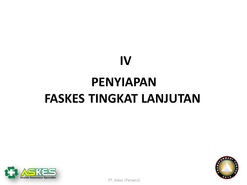 PT. Askes (Persero) PENYIAPAN FASKES TINGKAT LANJUTAN IVIV