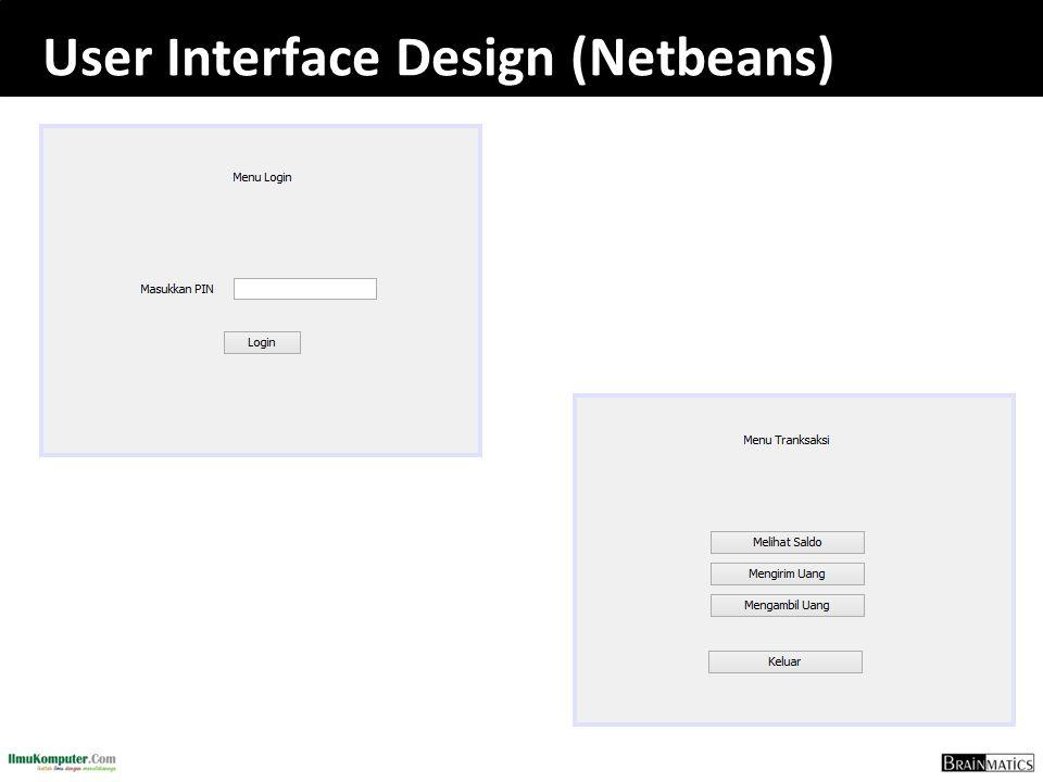 User Interface Design (Netbeans)