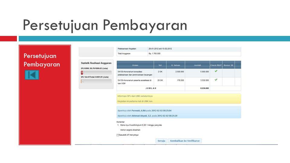 Persetujuan Pembayaran