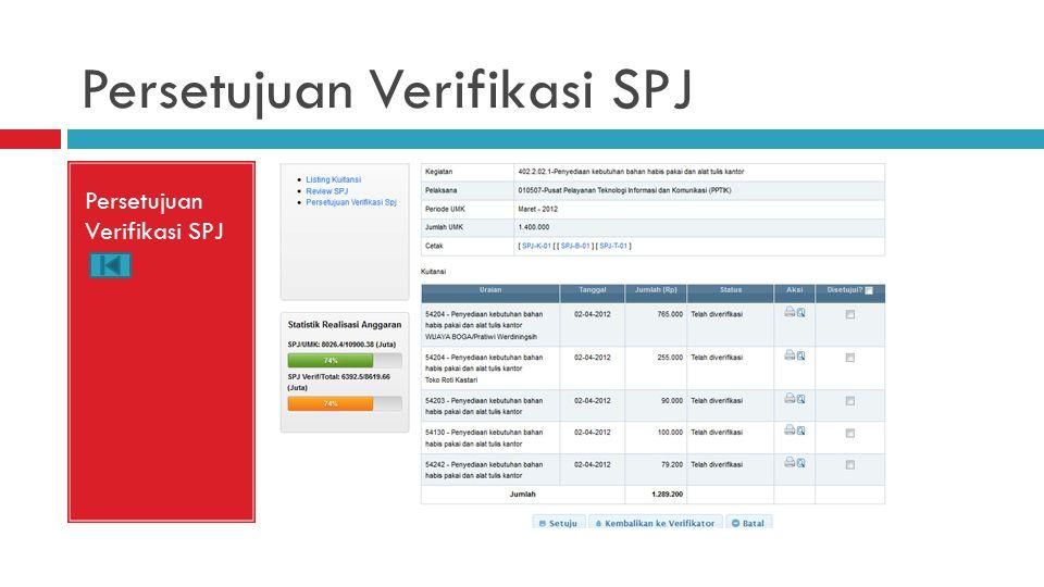 Persetujuan Verifikasi SPJ