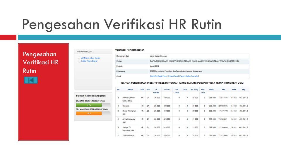 Pengesahan Verifikasi HR Rutin