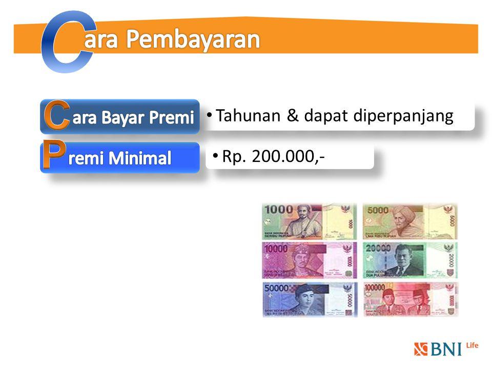 Rp. 200.000,- Tahunan & dapat diperpanjang