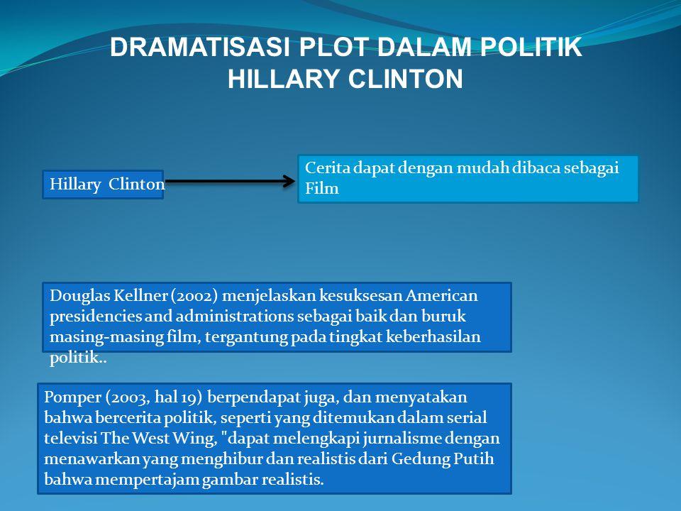 DRAMATISASI PLOT DALAM POLITIK HILLARY CLINTON Hillary Clinton Cerita dapat dengan mudah dibaca sebagai Film Douglas Kellner (2002) menjelaskan kesuks