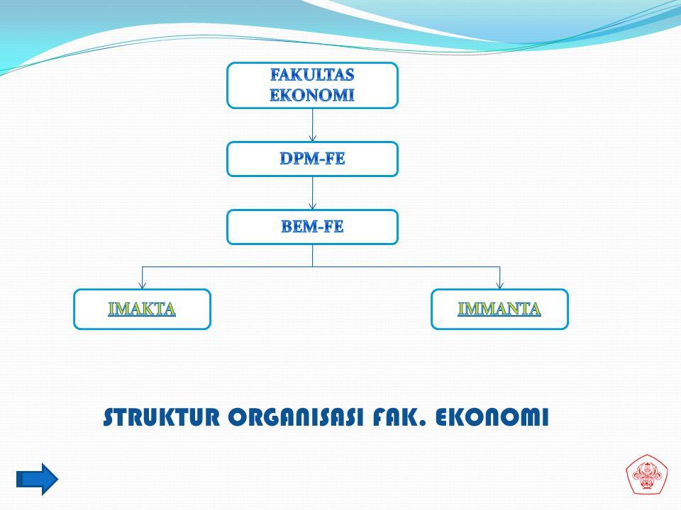 STRUKTUR ORGANISASI FAK. EKONOMI