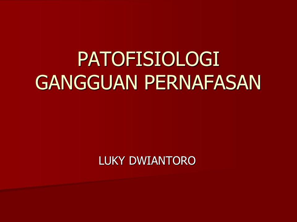 PATOFISIOLOGI GANGGUAN PERNAFASAN LUKY DWIANTORO