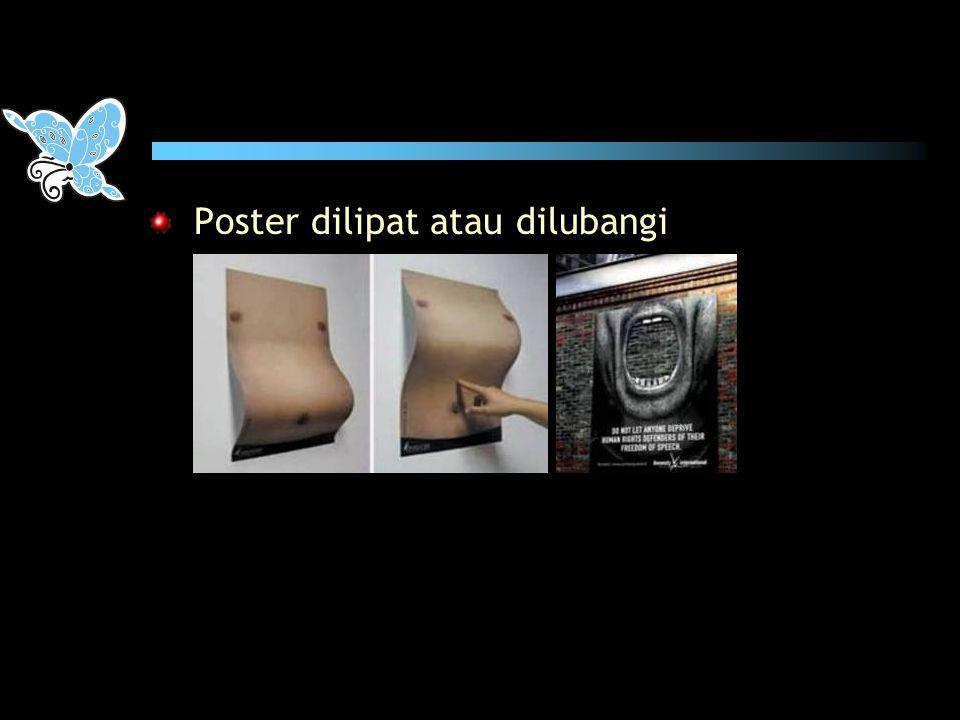 DESAIN POSTER II penggambaran yang berlebih kendati sangat dekat dengan kultur tempatan sangat Indonesia, tapi tidak santun!