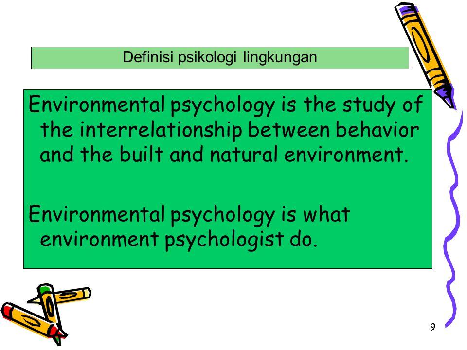 10 1).Lingkungan & behavior merupakan satu kesatuan yang tidak terpisahkan.