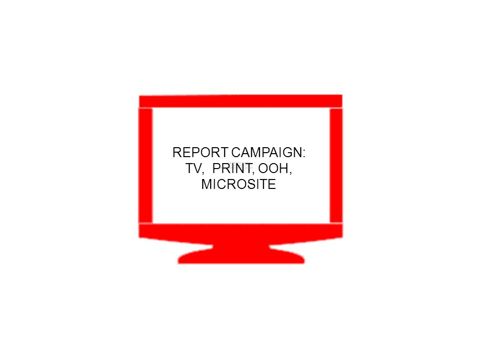 REPORT CAMPAIGN: TV, PRINT, OOH, MICROSITE