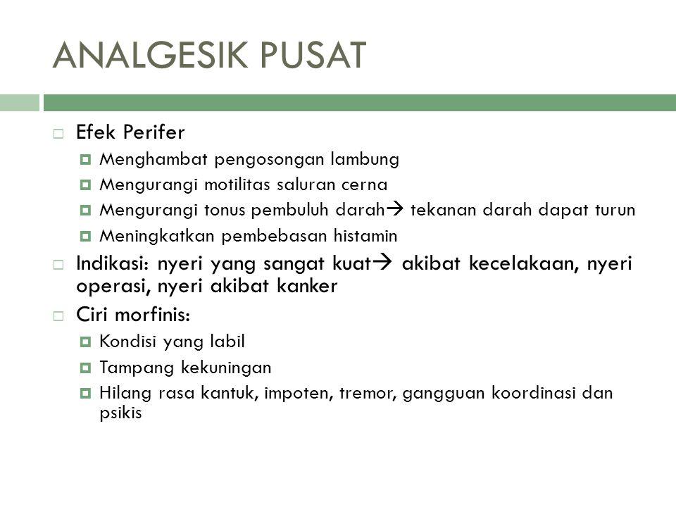  Tentukan efek farmakologi/ khasiat dari obat- obat berikut ini.