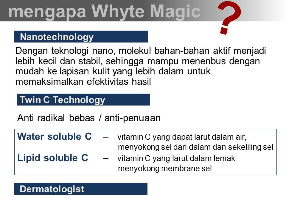 aplikasi yang mudah tersedia paket mengapa Whyte Magic Hanya dengan tepukan ringan saja, produk dapat terserap dengan baik.
