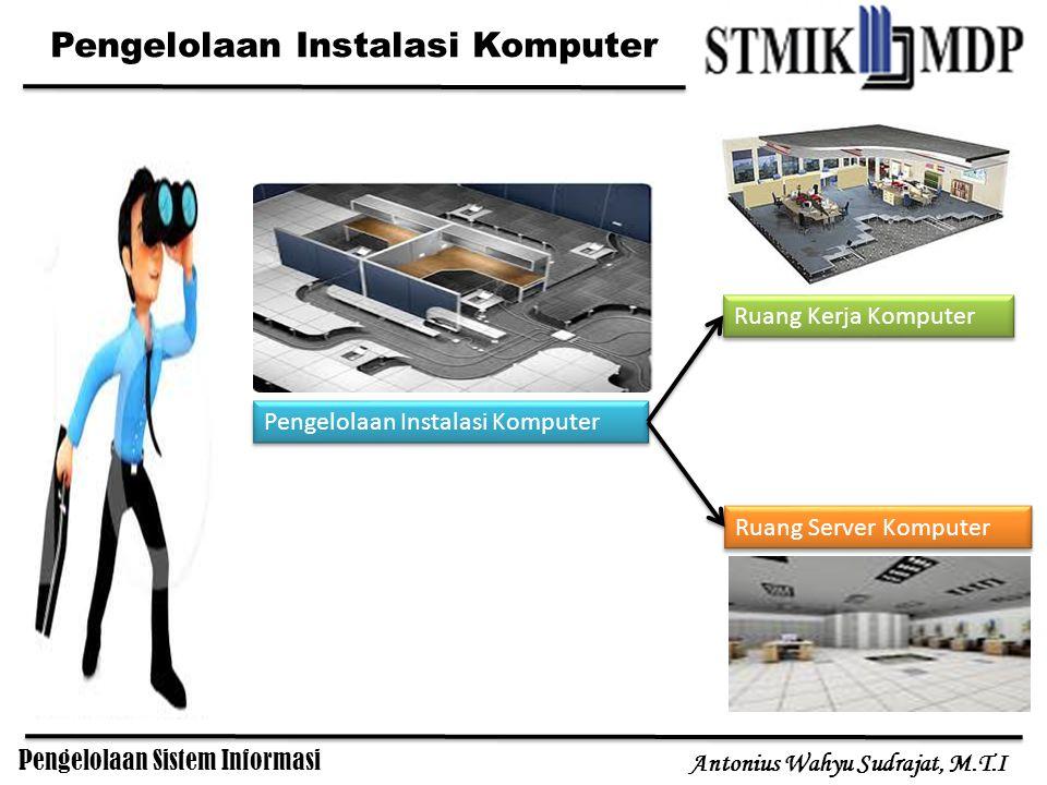Pengelolaan Sistem Informasi Antonius Wahyu Sudrajat, M.T.I Pengelolaan Instalasi Komputer Ruang Kerja Komputer Ruang Server Komputer