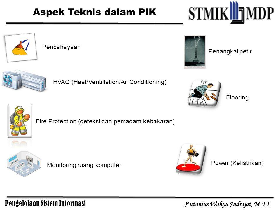 Pengelolaan Sistem Informasi Antonius Wahyu Sudrajat, M.T.I Aspek Teknis dalam PIK Power (Kelistrikan) HVAC (Heat/Ventillation/Air Conditioning) Fire