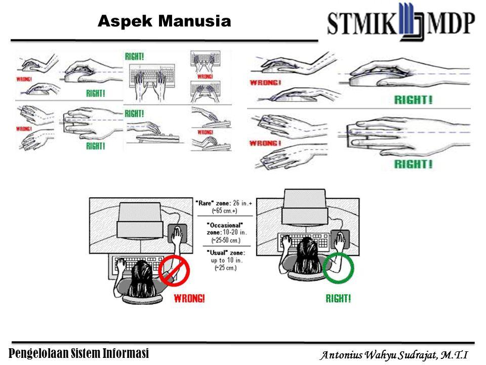 Pengelolaan Sistem Informasi Antonius Wahyu Sudrajat, M.T.I Aspek Manusia