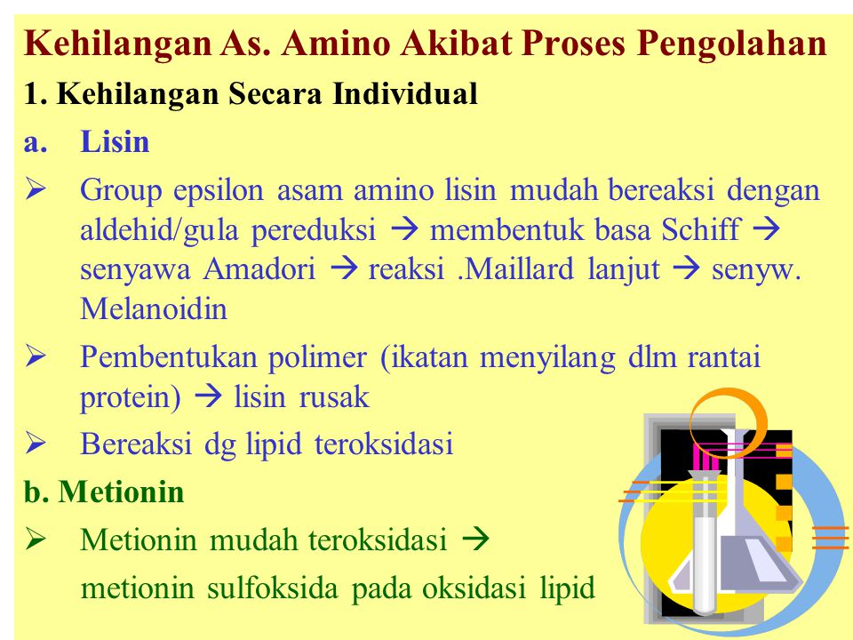 Kehilangan As.Amino Akibat Proses Pengolahan 1.