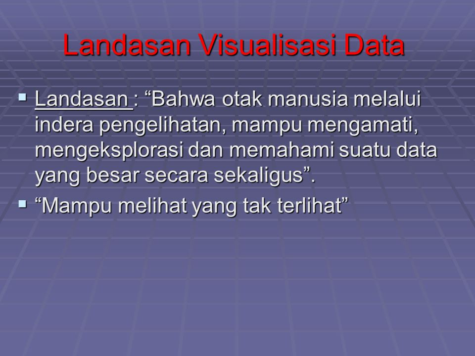 Mengapa Sistem Visualisasi Data .