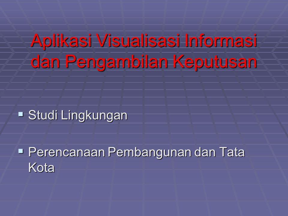 Aplikasi Visualisasi Informasi dan Pengambilan Keputusan  Studi Lingkungan  Perencanaan Pembangunan dan Tata Kota