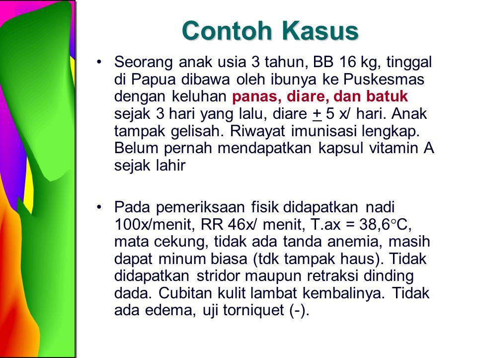 Penatalaksanaan Kasus (lihat bagan untuk balita 2 bln- 5 thn) Memeriksa tanda bahaya umum Apakah anak bisa minum/ menetek.