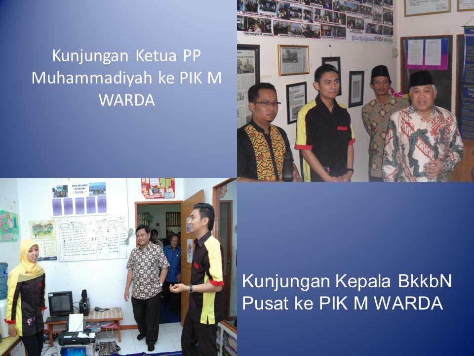 Kunjungan Ketua PP Muhammadiyah ke PIK M WARDA Kunjungan Kepala BkkbN Pusat ke PIK M WARDA