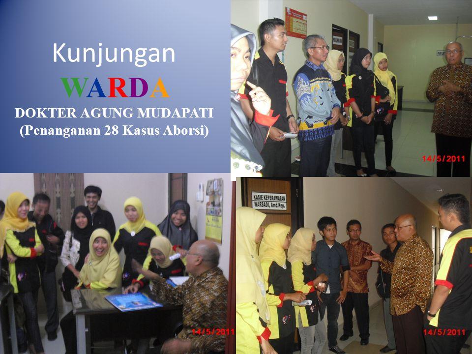 Kunjungan WARDA DOKTER AGUNG MUDAPATI (Penanganan 28 Kasus Aborsi)