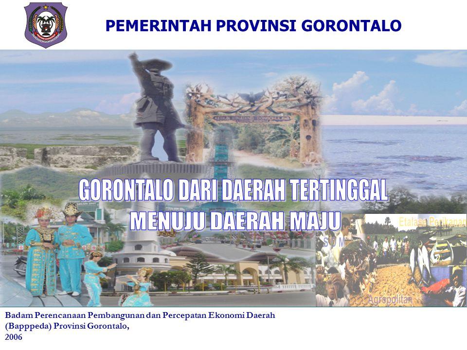 KATA PENGANTAR Geliat Pembangunan terus bergulir sejak Gorontalo definitif sebagai Provinsi ke 32 tahun 2001 lalu.