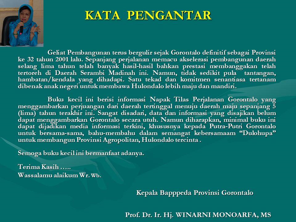 DAFTAR ISI Fakta Kondisi Provinsi Gorontalo Tahun 2005 …………………………………..