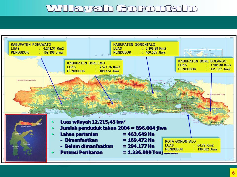 52 54 56 58 60 62 64 66 68 2002 20042005 UMUR 2003 58 60 62 65 Sumber : Dinas Kesehatan Provinsi Gorontalo, 2005 THN 17