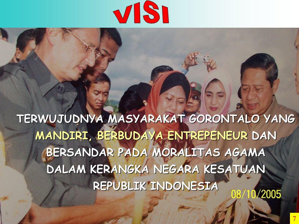 THN 0 100.000 200.000 300.000 400.000 500.000 600.000 700.000 Sumber : BPS Provinsi Gorontalo 2004 321.753 Angkatan Kerja Kesempatan Kerja 2002 2003 2004 387.433 419.583 294.792 328.242 344.783 5.
