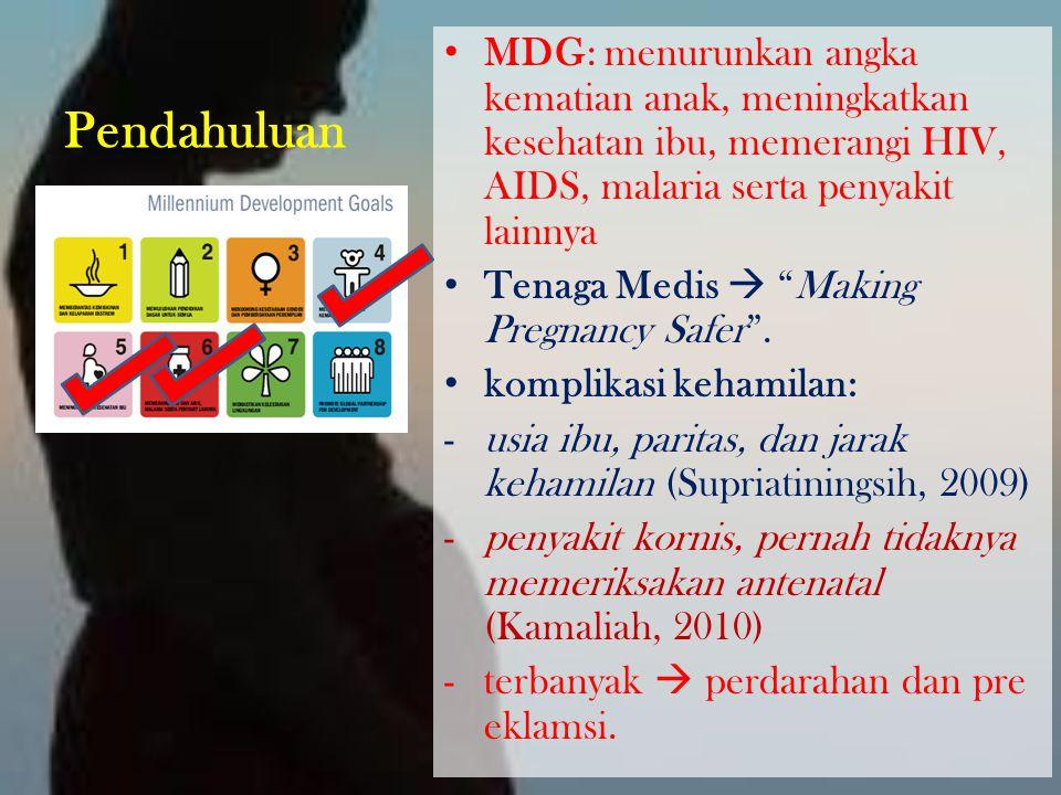 "Pendahuluan MDG: menurunkan angka kematian anak, meningkatkan kesehatan ibu, memerangi HIV, AIDS, malaria serta penyakit lainnya Tenaga Medis  ""Makin"