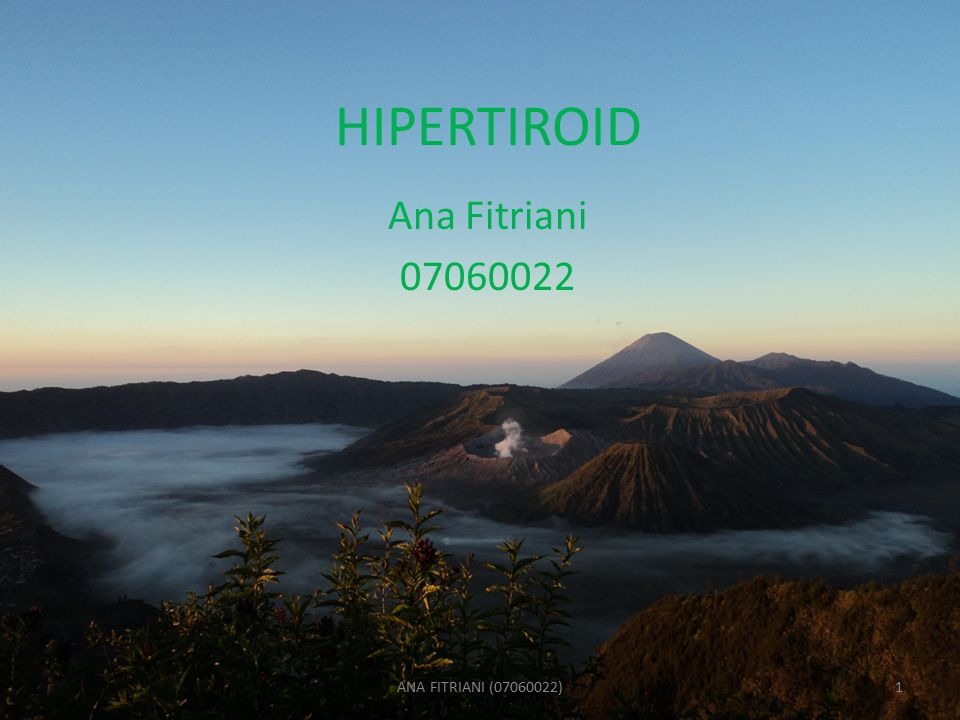 HIPERTIROID Ana Fitriani 07060022 ANA FITRIANI (07060022)1