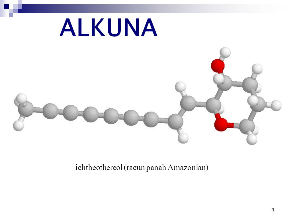 1 ALKUNA ichtheothereol (racun panah Amazonian)