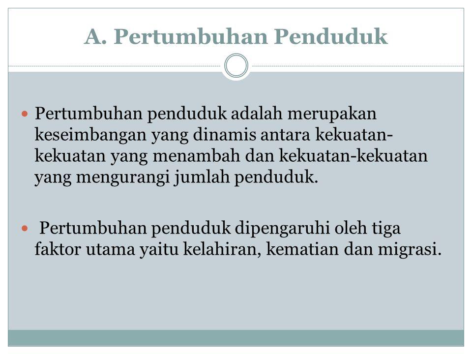 B.Pengukuran Pertumbuhan Penduduk 1.