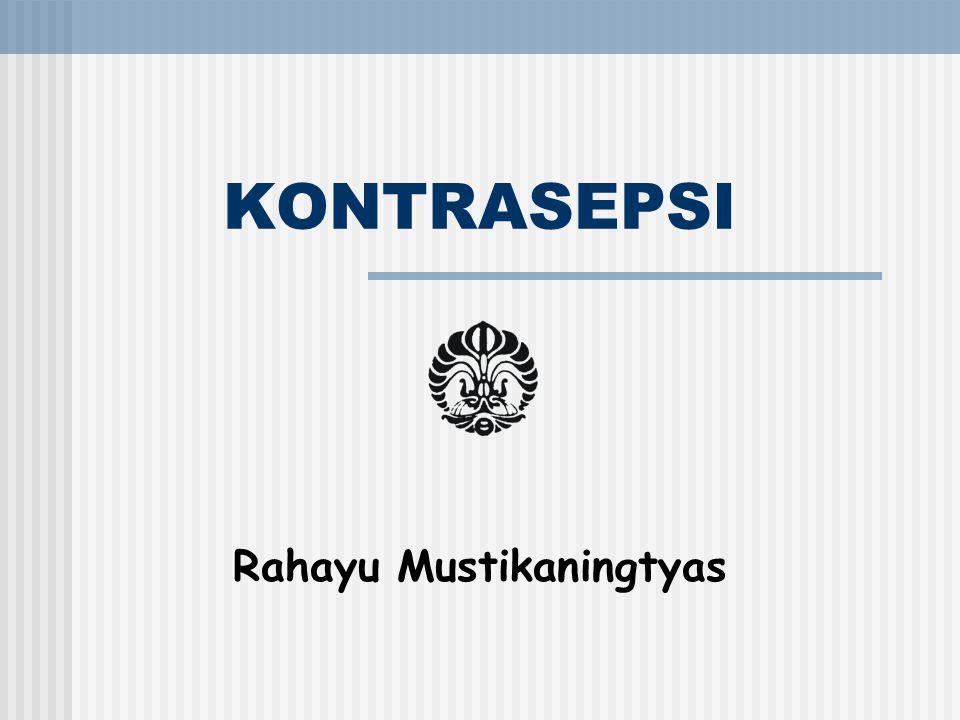 KONTRASEPSI Rahayu Mustikaningtyas