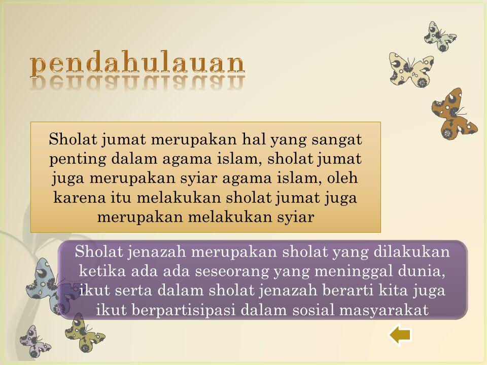 Sholat jumat merupakan hal yang sangat penting dalam agama islam, sholat jumat juga merupakan syiar agama islam, oleh karena itu melakukan sholat juma