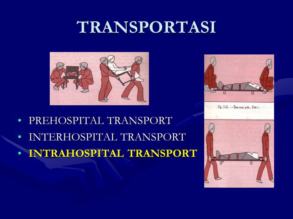 TRANSPORTASI PREHOSPITAL TRANSPORTPREHOSPITAL TRANSPORT INTERHOSPITAL TRANSPORTINTERHOSPITAL TRANSPORT INTRAHOSPITAL TRANSPORTINTRAHOSPITAL TRANSPORT
