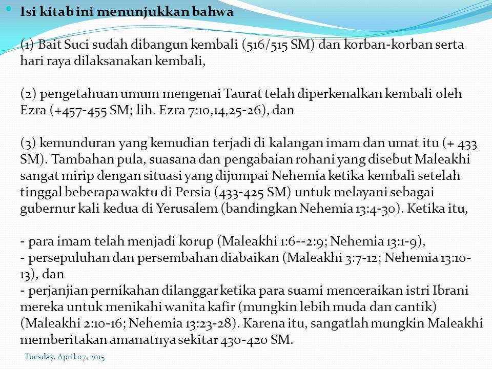 c) Mereka berkata bahwa orang jahat itu lebih enak (ay 15).
