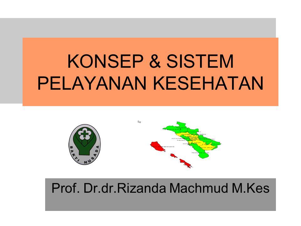 KONSEP & SISTEM PELAYANAN KESEHATAN Prof. Dr.dr.Rizanda Machmud M.Kes