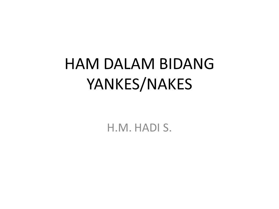 HAM DALAM BIDANG YANKES/NAKES H.M. HADI S.