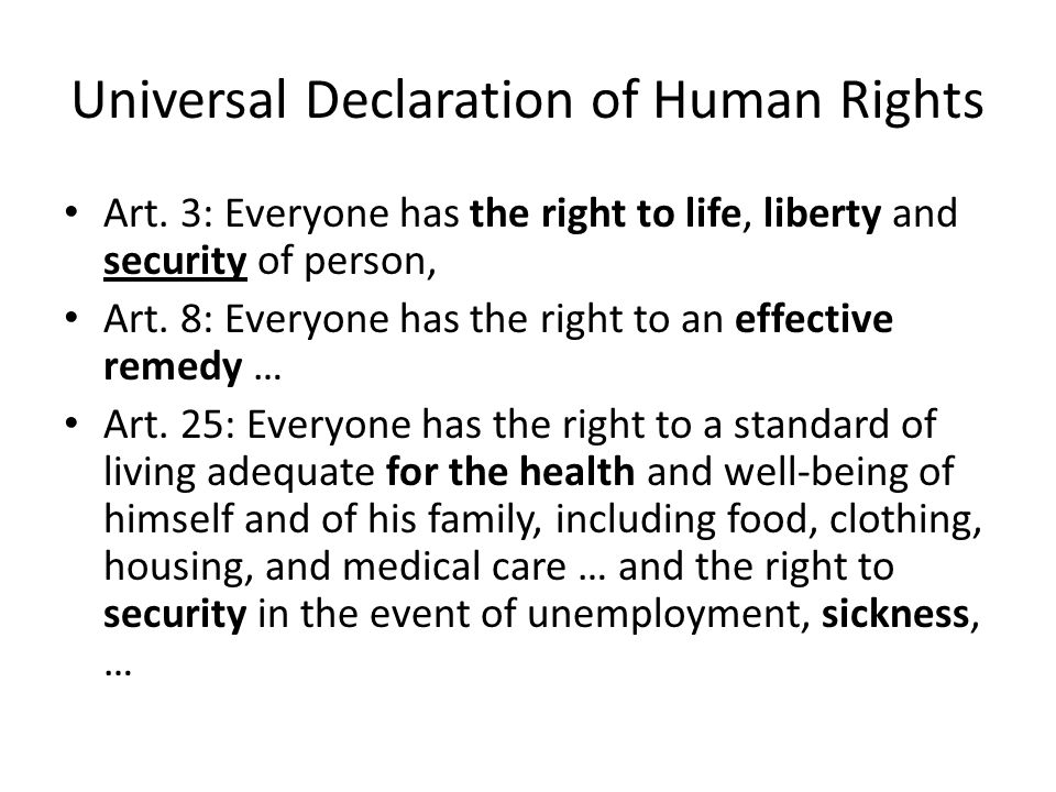 Universal Declaration of Human Rights Art.