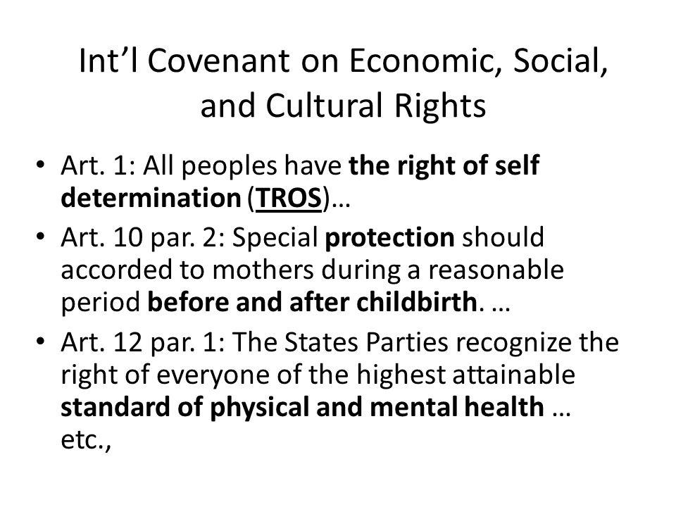 Int'l Covenant on Civil and Political Rights Art.1 par.