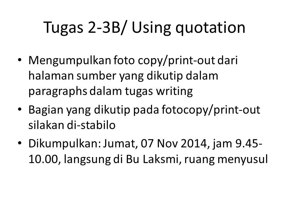 Tugas Pengganti Makul 3C B. Inggris III/ Short Paper Writing Th Laksmi Widyarini, M.Hum