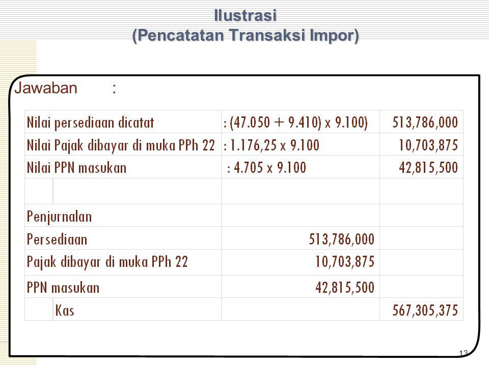Ilustrasi (Pencatatan Transaksi Impor) 13