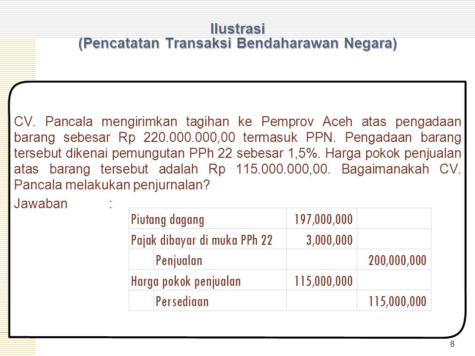 Ilustrasi - (Impor) PT.Kutai Kartanegara melakukan transaksi jual beli dengan Tenggarong Inc.
