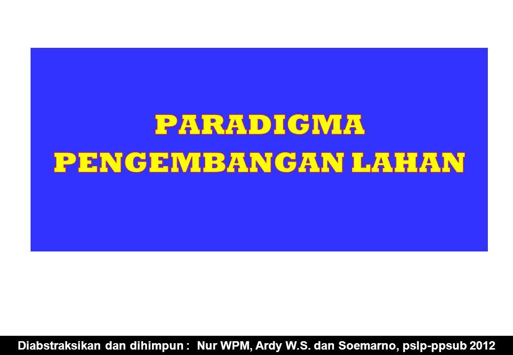 Diabstraksikan dan dihimpun : Nur WPM, Ardy W.S. dan Soemarno, pslp-ppsub 2012