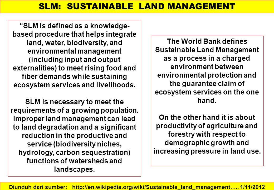 Ada empat (4) jenis pengembangan lahan: Major (besar), Minor (kecil), kelompok, dan regional.