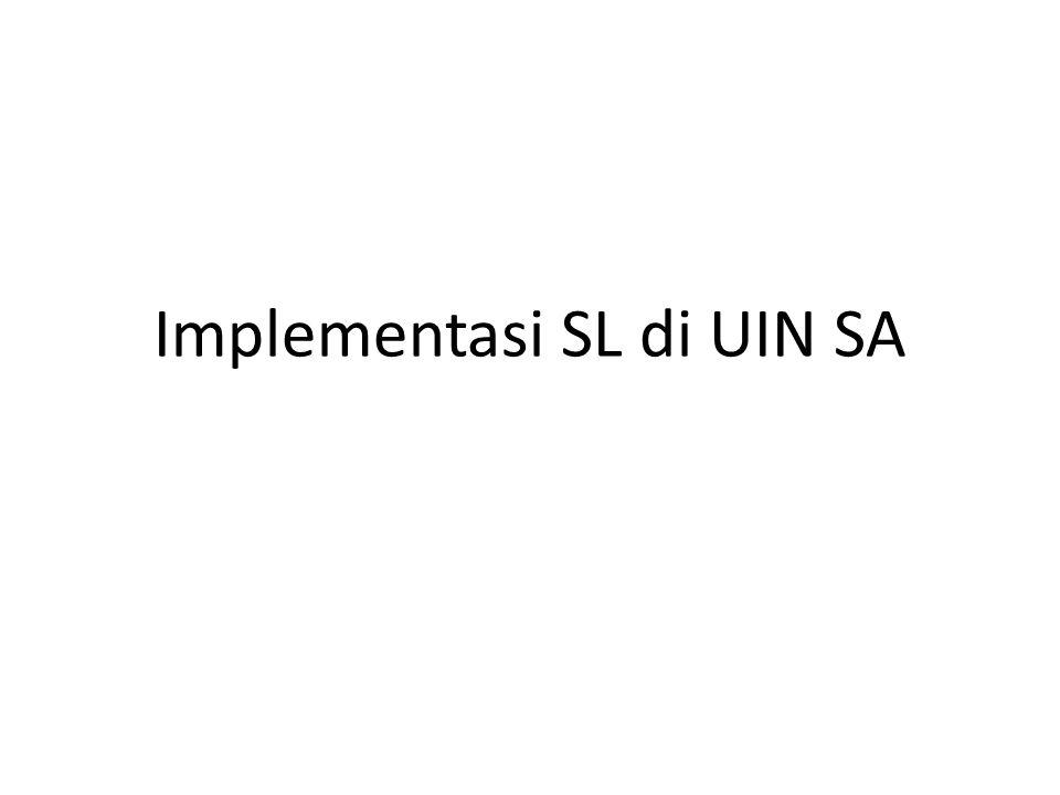 Implementasi SL di UIN SA