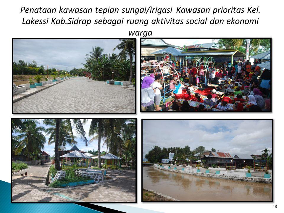 18 Penataan kawasan tepian sungai/irigasi Kawasan prioritas Kel. Lakessi Kab.Sidrap sebagai ruang aktivitas social dan ekonomi warga