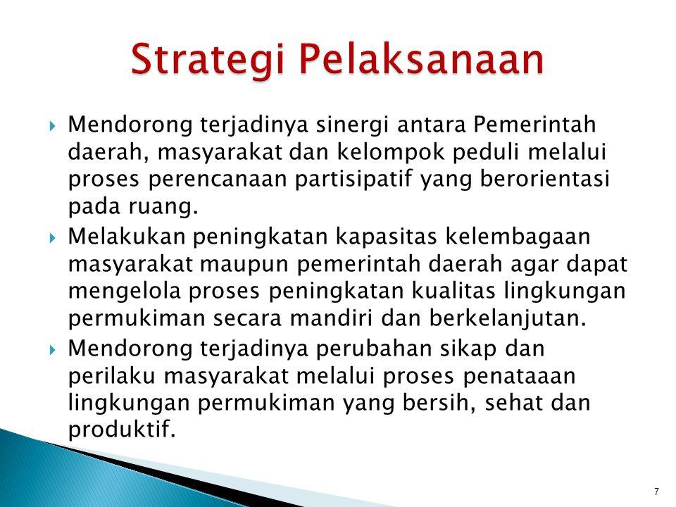  Mendorong terjadinya sinergi antara Pemerintah daerah, masyarakat dan kelompok peduli melalui proses perencanaan partisipatif yang berorientasi pada