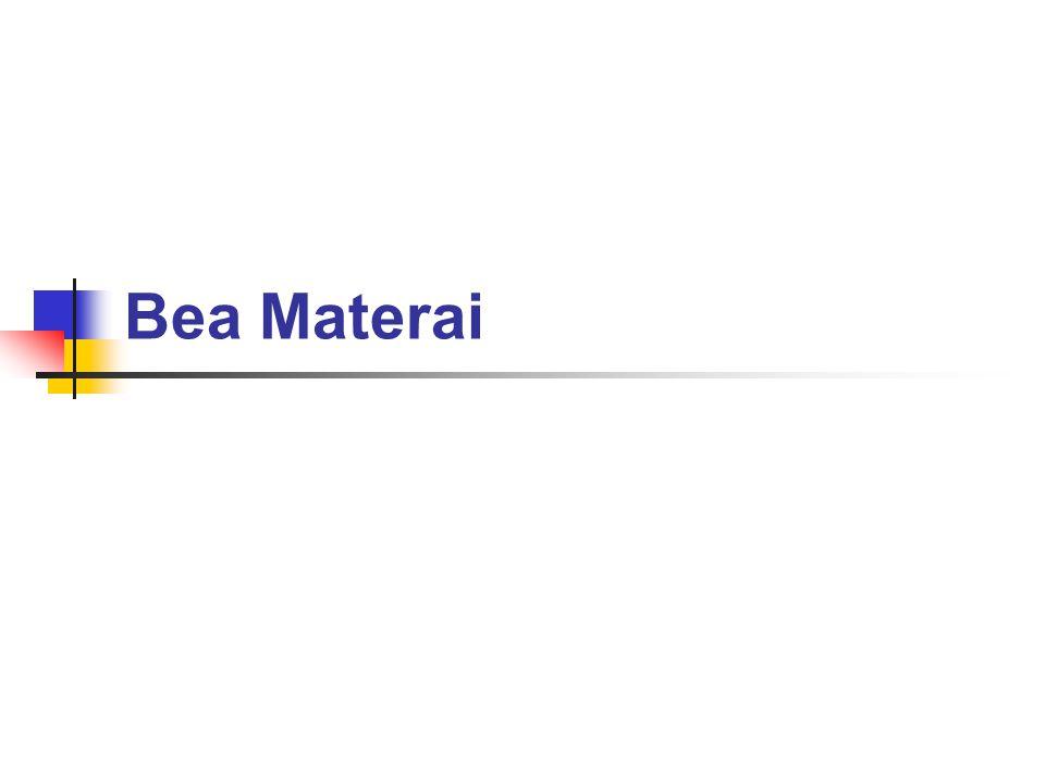 Pelunasan Bea Materai Benda Materai Mesin Teraan Materai Membubukan Tanda Lunas Bea materai