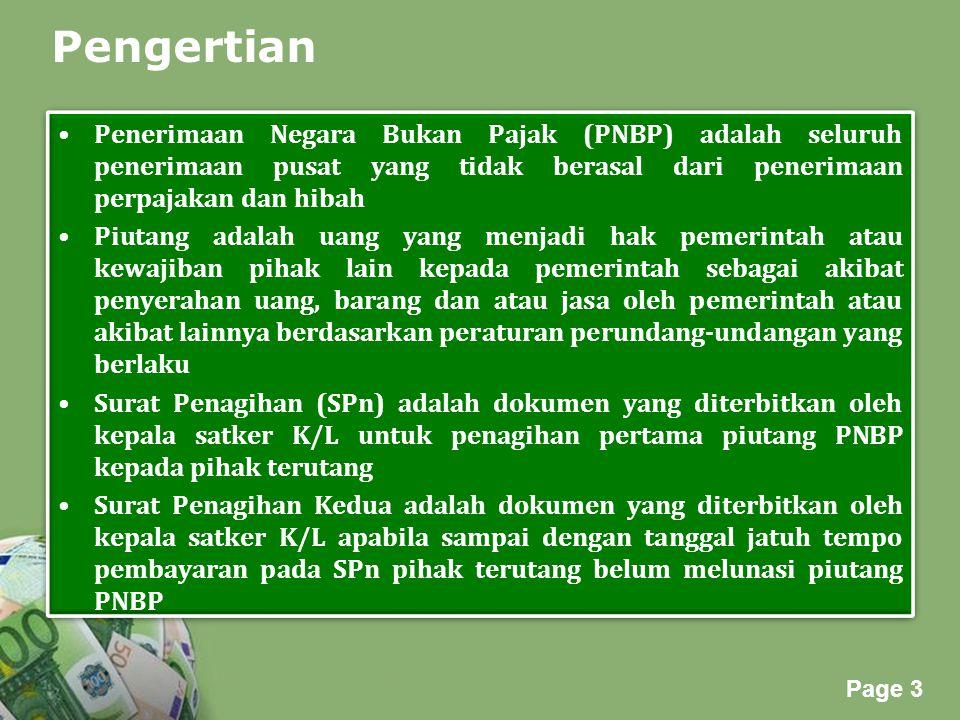 Powerpoint Templates Page 3 Pengertian Penerimaan Negara Bukan Pajak (PNBP) adalah seluruh penerimaan pusat yang tidak berasal dari penerimaan perpaja