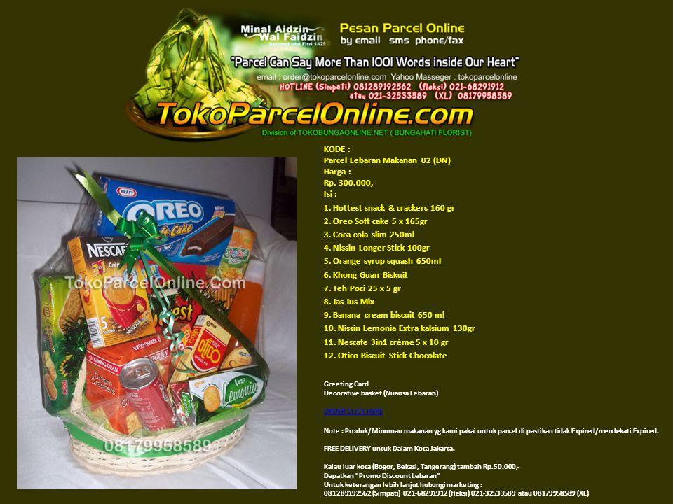 KODE : Parcel Lebaran Makanan 03 (EM) Harga : Rp.400.000,- Isi :1.